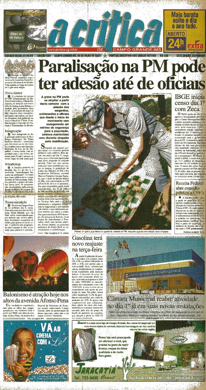 5673d04b8400c5 Jornal A Critica - Edição 988- 30/07/2000 by JORNAL A CRITICA - issuu