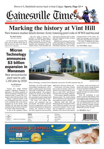 Gainesville / Prince William Times September 5, 2018 by