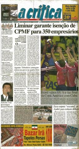 4d1da9b9c5 Jornal A Critica - Edição 991- 20 08 2000 by JORNAL A CRITICA - issuu