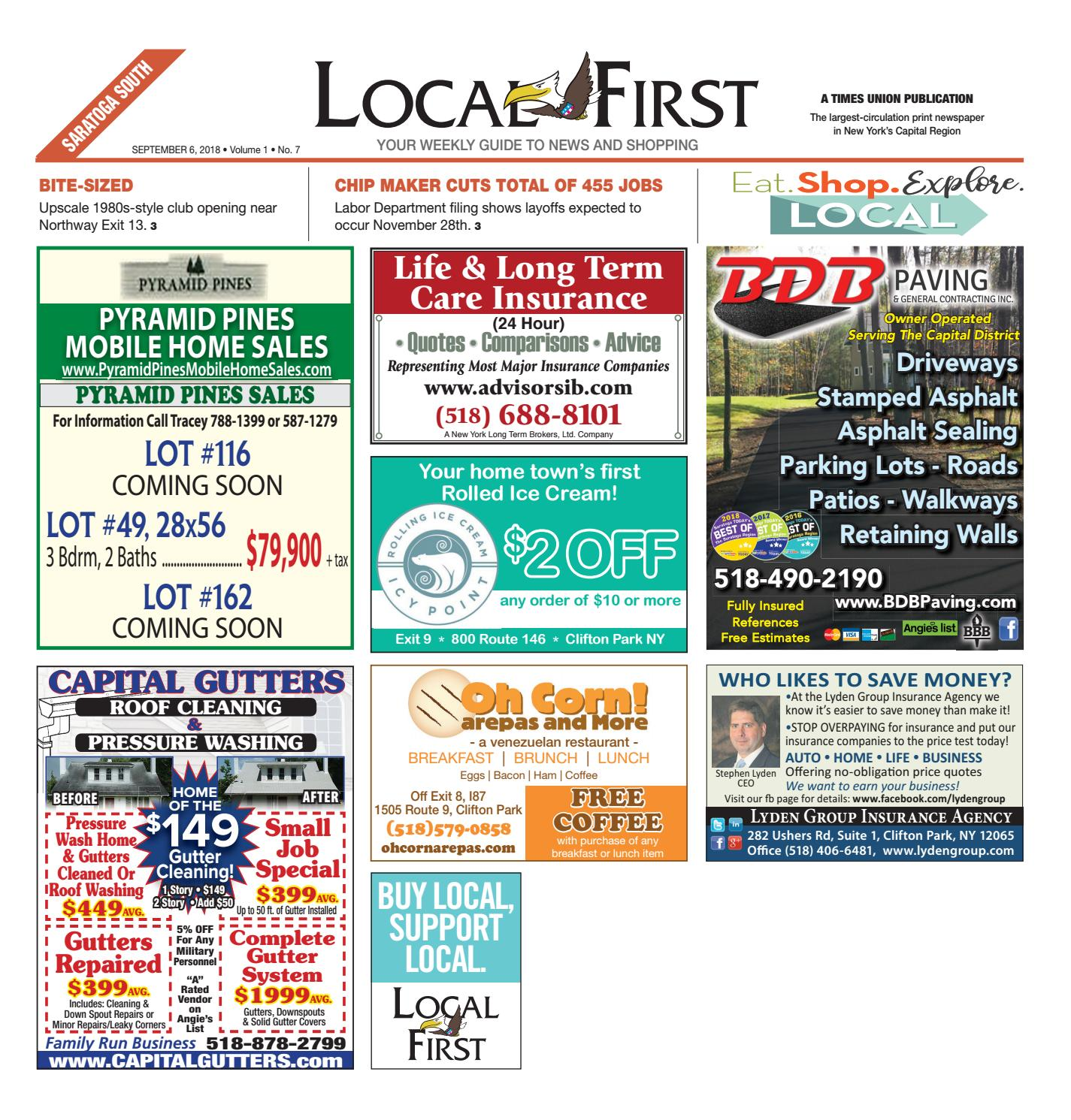 7463d3463 Local First Saratoga South 090618 by Capital Region Weekly Newspapers -  issuu
