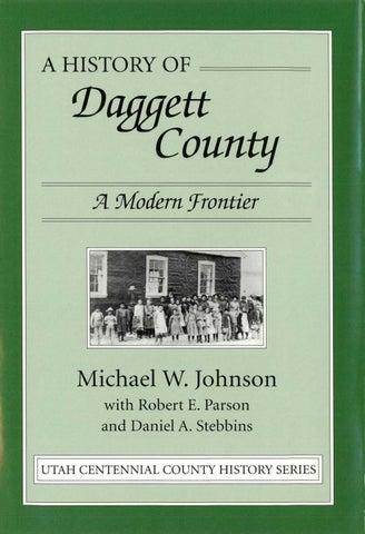 Utah Centennial County History Series Daggett County 1998 By