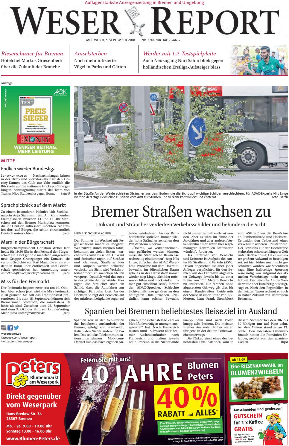Weser Report - Mitte vom 05.09.2018 by KPS Verlagsgesellschaft mbH ...