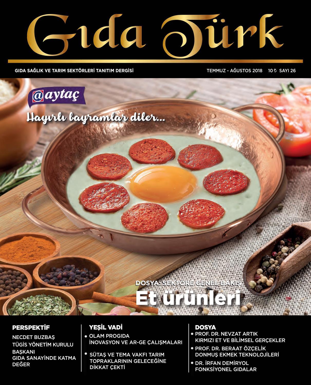 Gidaturk Dergisi Temmuz Agustos By Gida Turk Dergisi Issuu