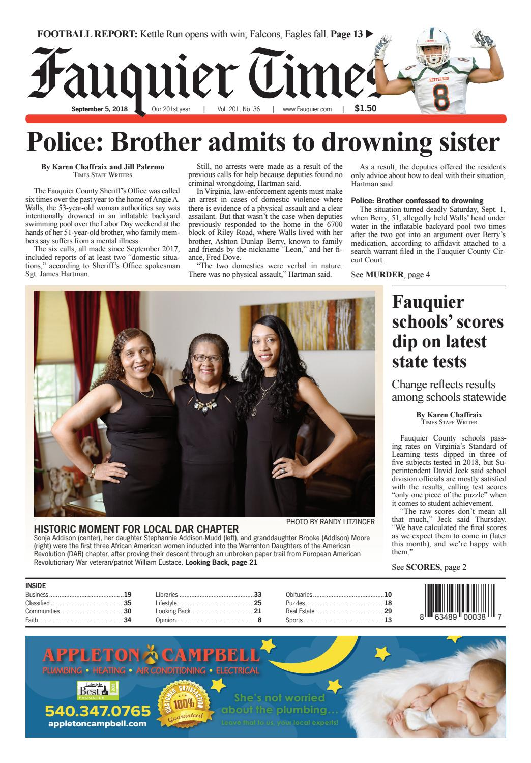 Fauquier Times September 5, 2018 by Fauquier Times - issuu