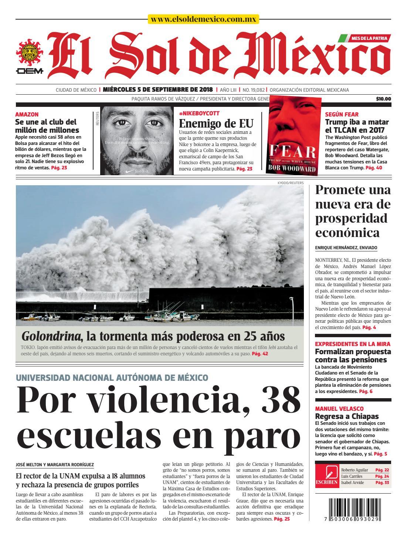 size 40 57a43 f1a85 El Sol de México 5 de septiembre 2018 by El Sol de México - issuu