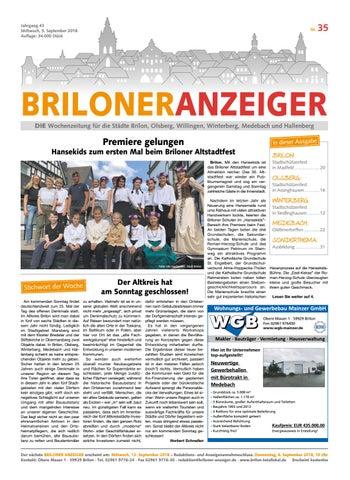 buy best popular stores on feet shots of Briloner Anzeiger Ausgabe vom 05.09.208 Nr. 35 by Brilon ...