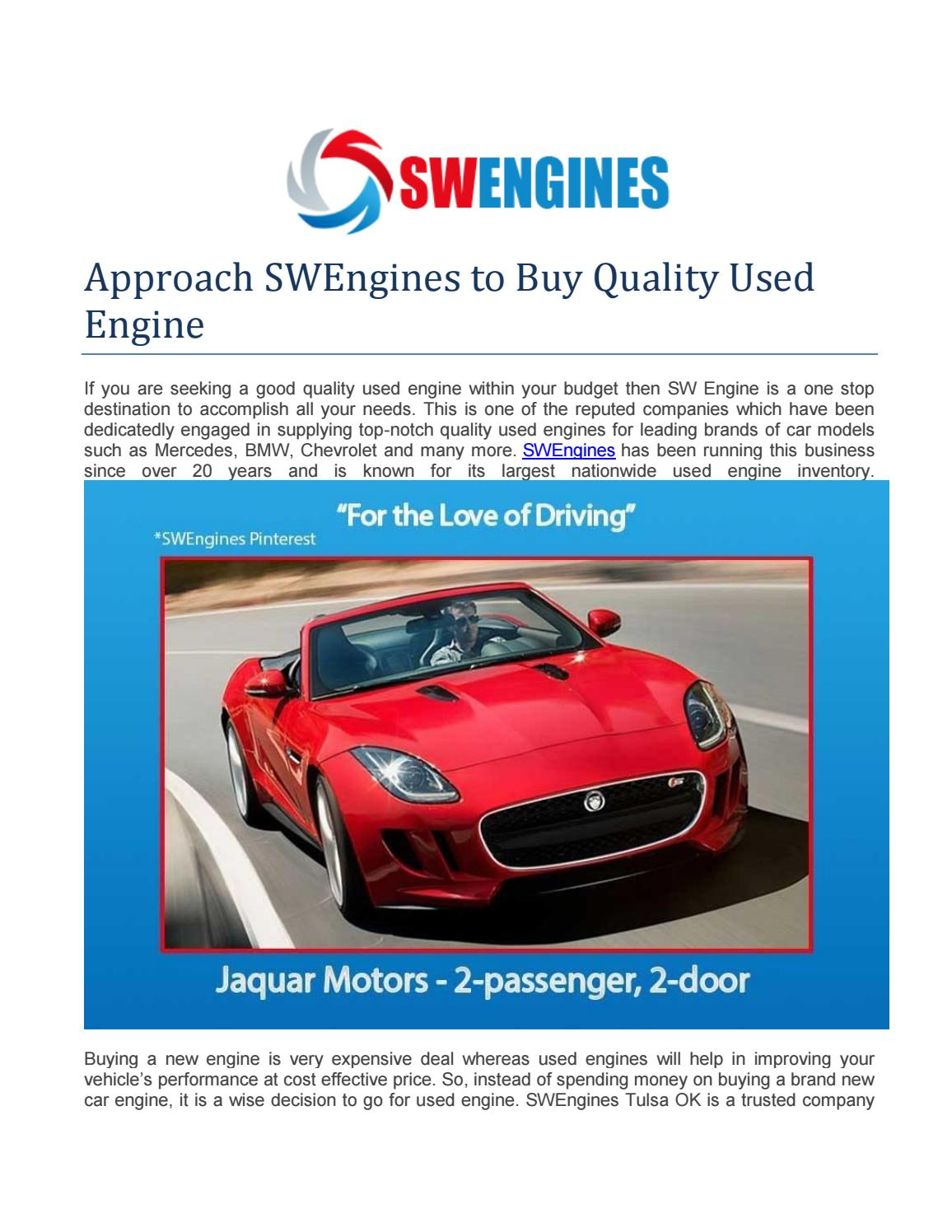 New Engine Cost >> Approach Swengines To Buy Quality Used Engine By Sw Engines