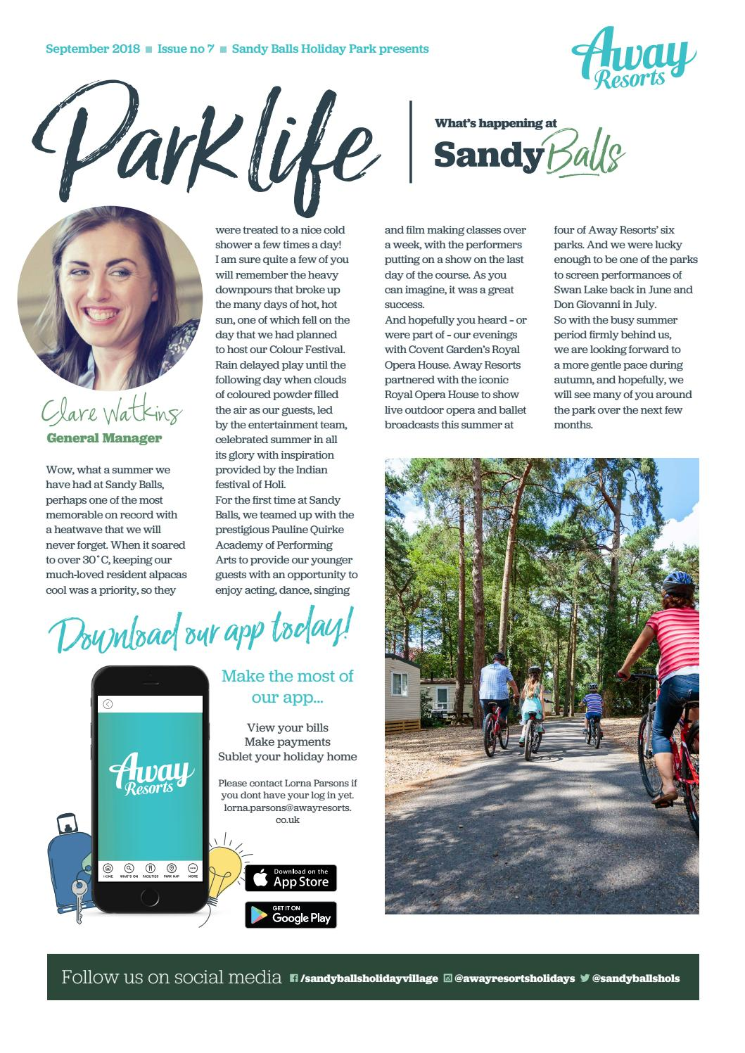 Sandy Balls Owners Newsletter - Sep 18 by Away Resorts - issuu