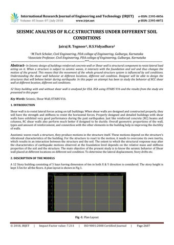 IRJET- Seismic Analysis of R C C Structures Under Different Soil