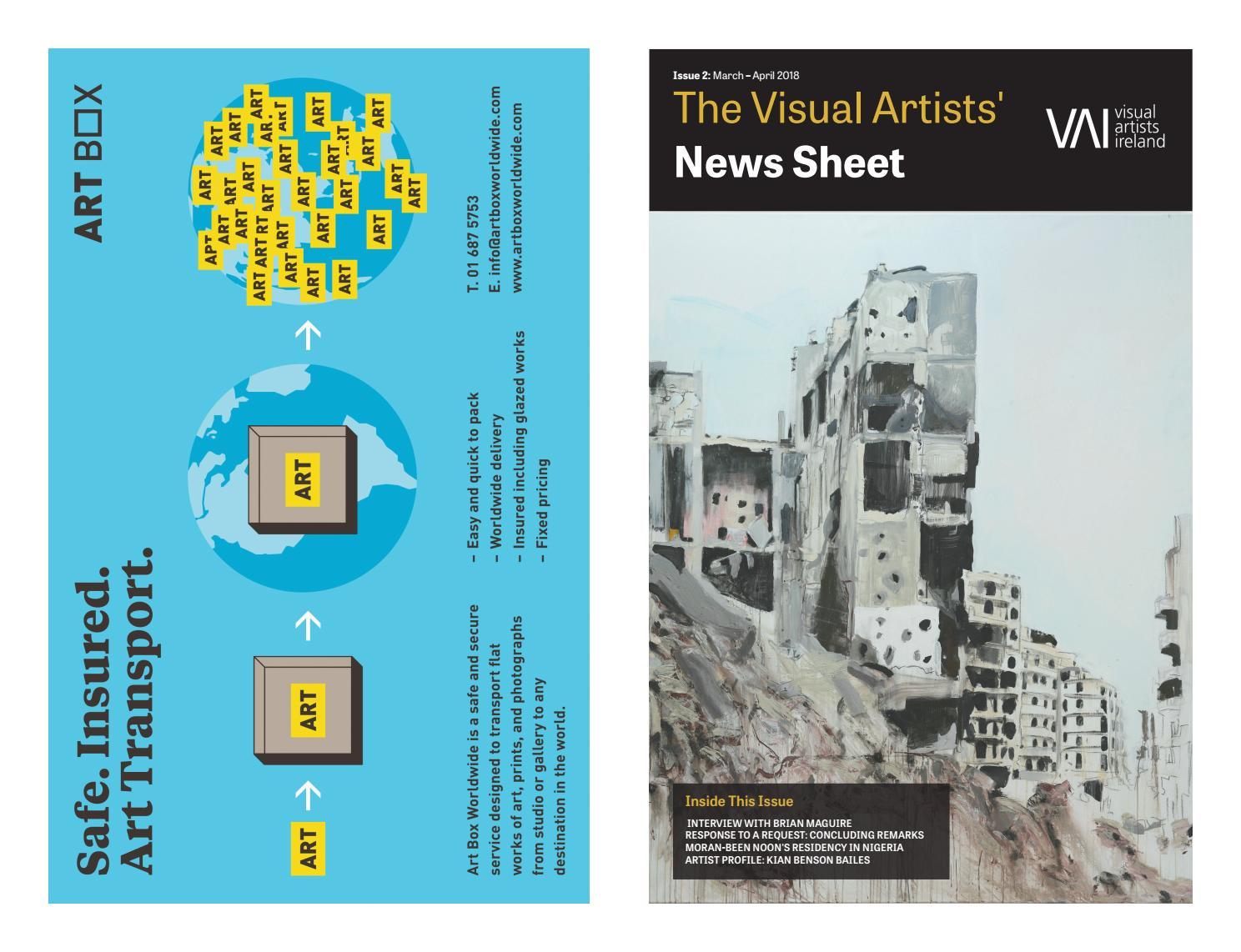 2a83d641afc97 Visual Artists  News Sheet – 2018 March April by VisualArtistsIreland -  issuu