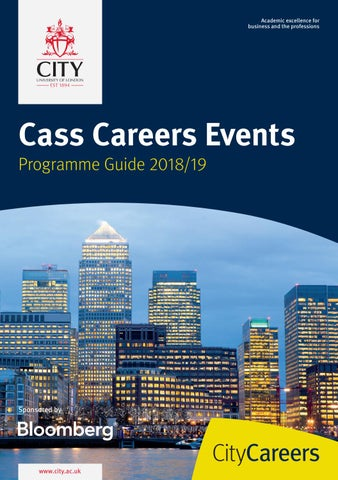 City, Cass Business School Careers Events Programme Guide