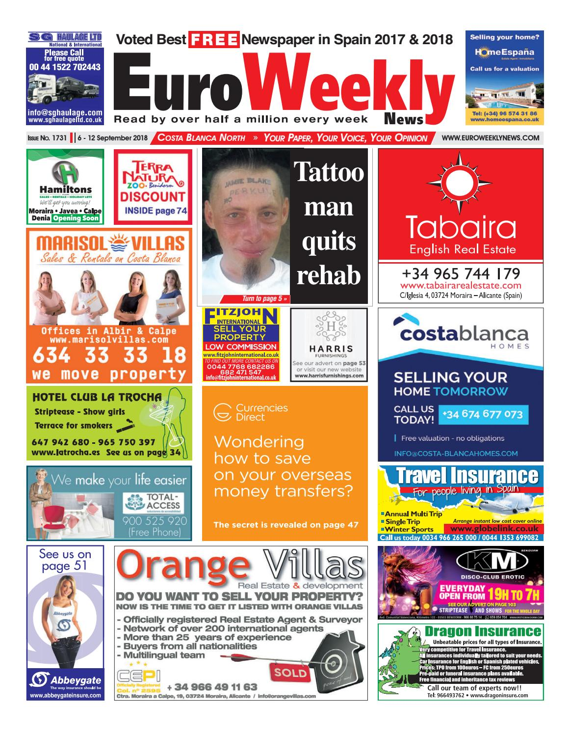 b3831dc50c1 Euro Weekly News - Costa Blanca North 6 - 12 September 2018 Issue 1731