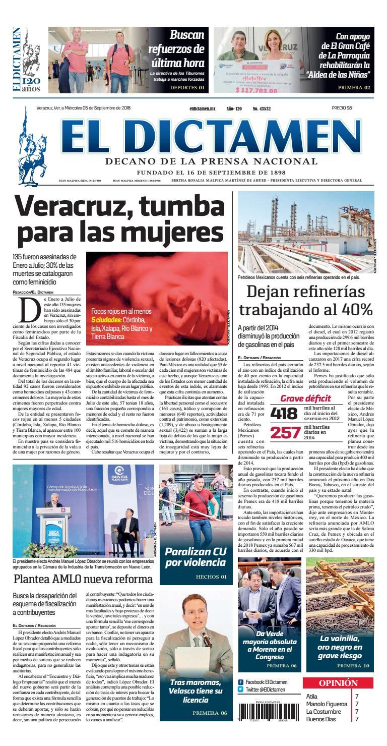 El Dictamen 05 de Septiembre 2018 by El Dictamen - issuu 068f7d0bd72