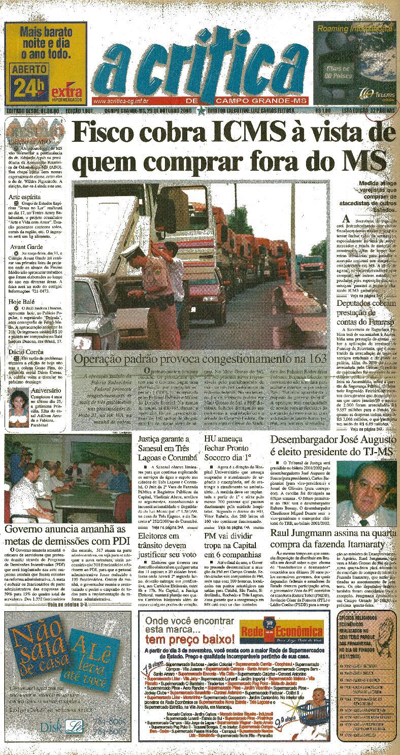 6e7450aaa7 Jornal A Critica - Edição 1001- 29 10 2000 by JORNAL A CRITICA - issuu