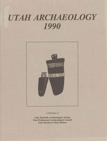 93029a8b4958 Utah Archaeology Volume 3