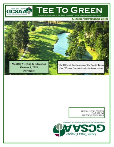 August/September 2018 Tee to Green by stgcsa - issuu