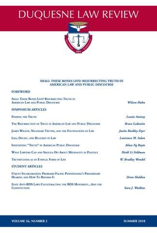 Duquesne Law Review Volume 56 2 by Duquesne University