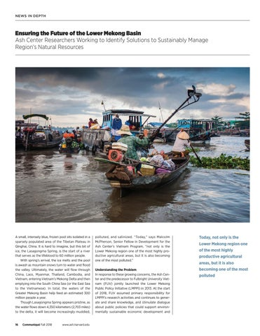 Page 16 of Ensuring the Future of the Lower Mekong Basin