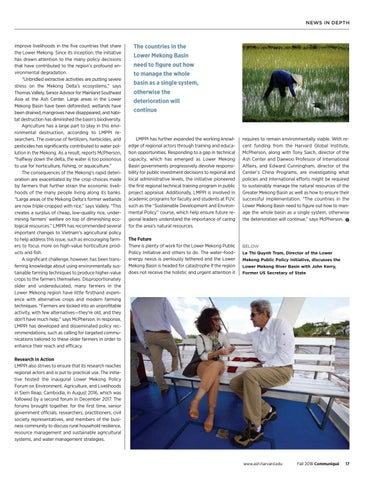Page 17 of Ensuring the Future of the Lower Mekong Basin