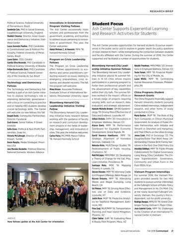 Page 21 of Fellows Focus | Student Focus