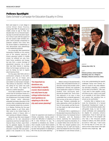 Page 22 of Dalio Scholar's Campaign for Education Equality in China