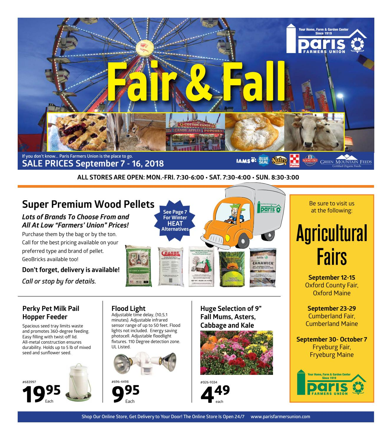 Paris Farmers Union Fair Amp Fall Sale Flyer By Paris