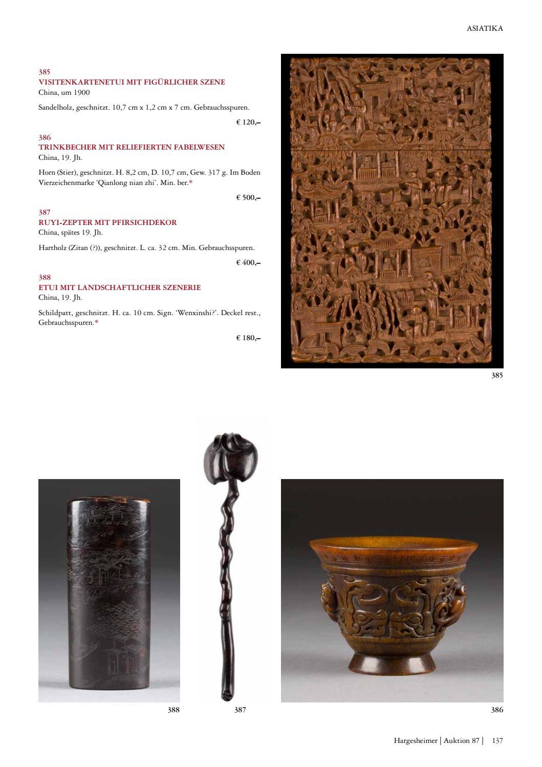 Hargesheimer Kunstauktionen Düsseldorf Sale 87 Asian Art 20