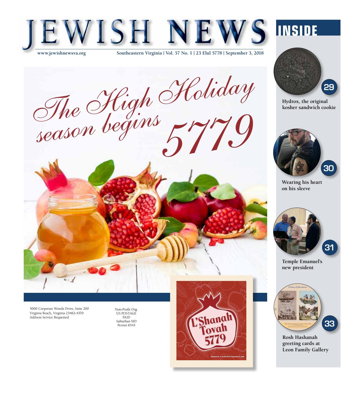Jewish News September 3 2018 By United Jewish Federation Of