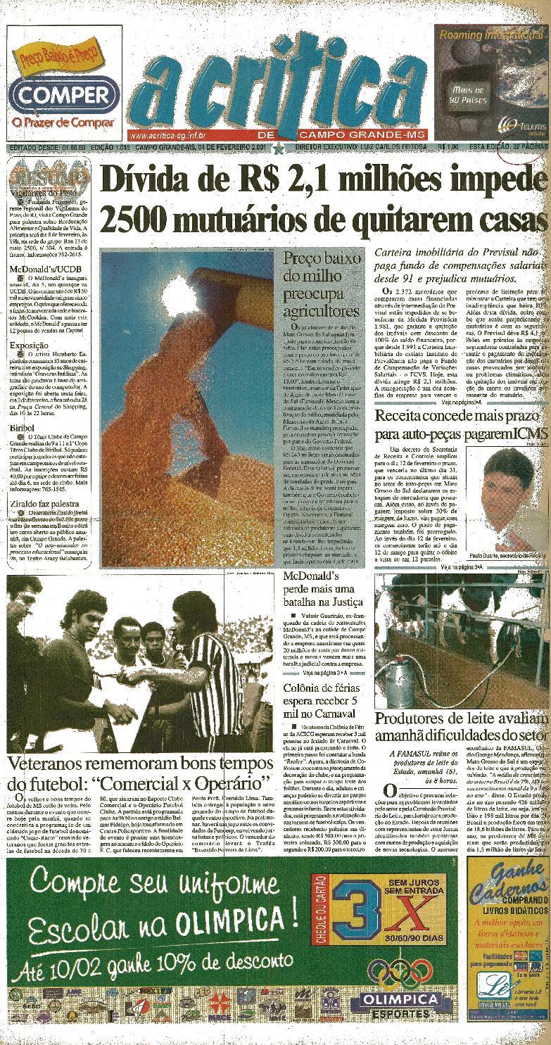 597ce99a1 Jornal A Critica - Edição 1015- 04 02 2001 by JORNAL A CRITICA - issuu