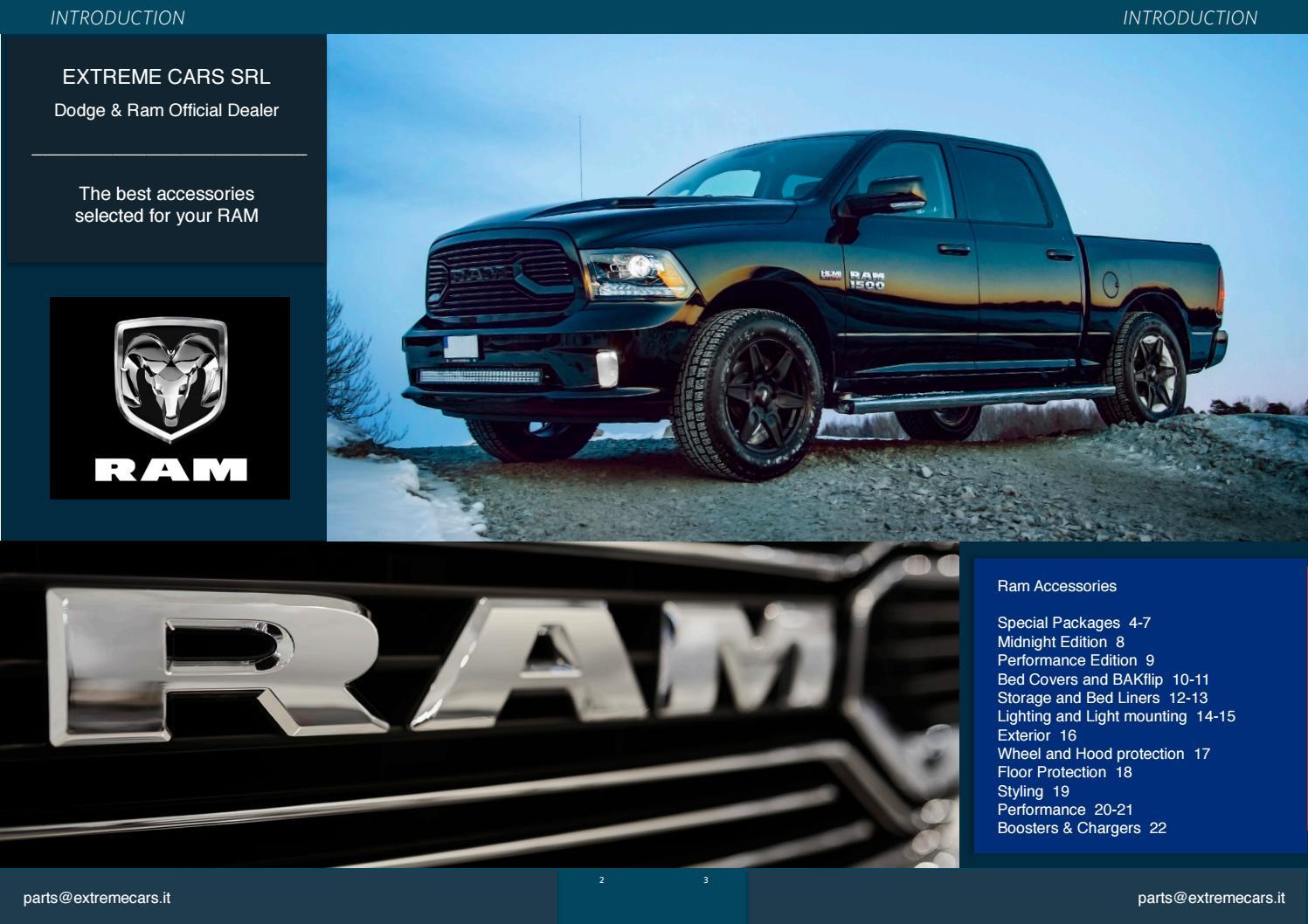 2009 2018 Dodge Ram 1500 Catalogo Accessori K By Extreme Cars Srl Issuu