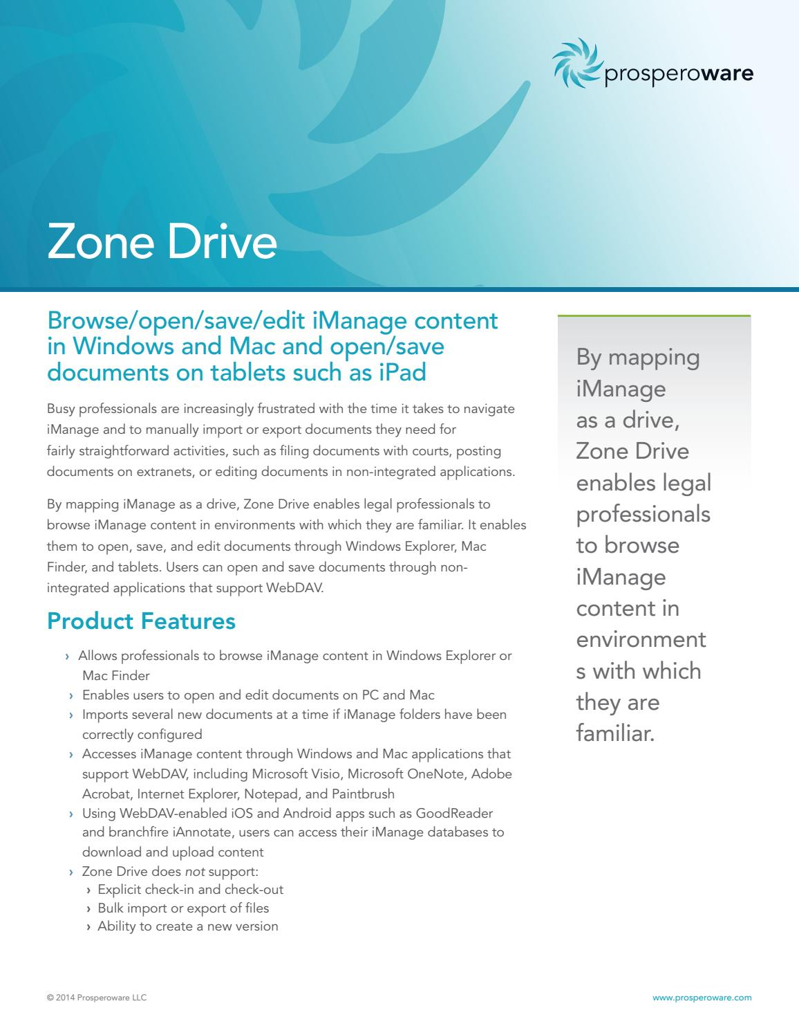 Zone Drive by prosperoware - issuu