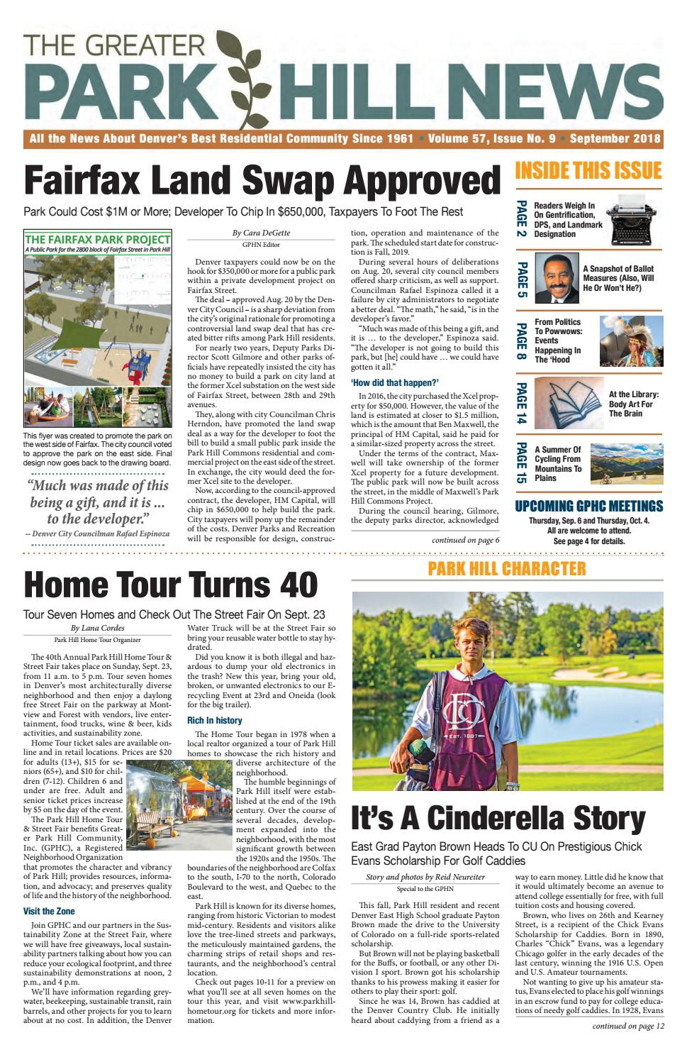 Greater Park Hill Newspaper September 2018 By Circuit Board Soap Lotion Dispenser Glass Potty Training Concepts News Issuu