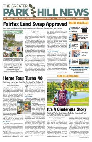 Greater Park Hill Newspaper, September 2018 by Greater Park Hill
