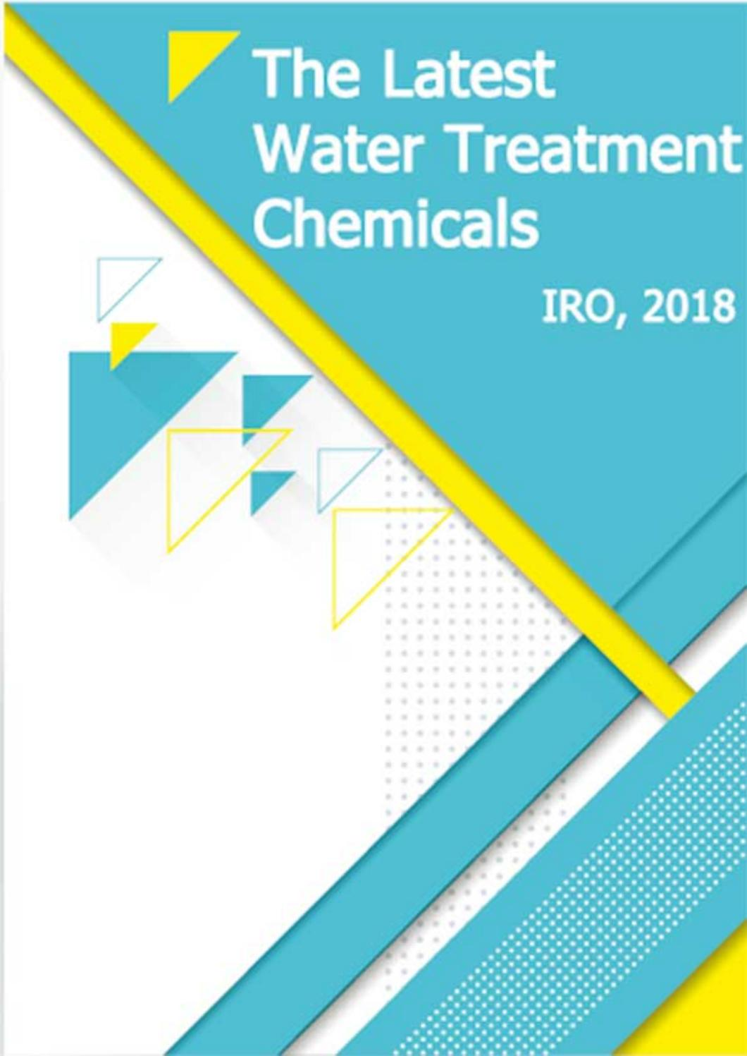 The Latest Water Treatment Chemicals List 2018 of IRO by
