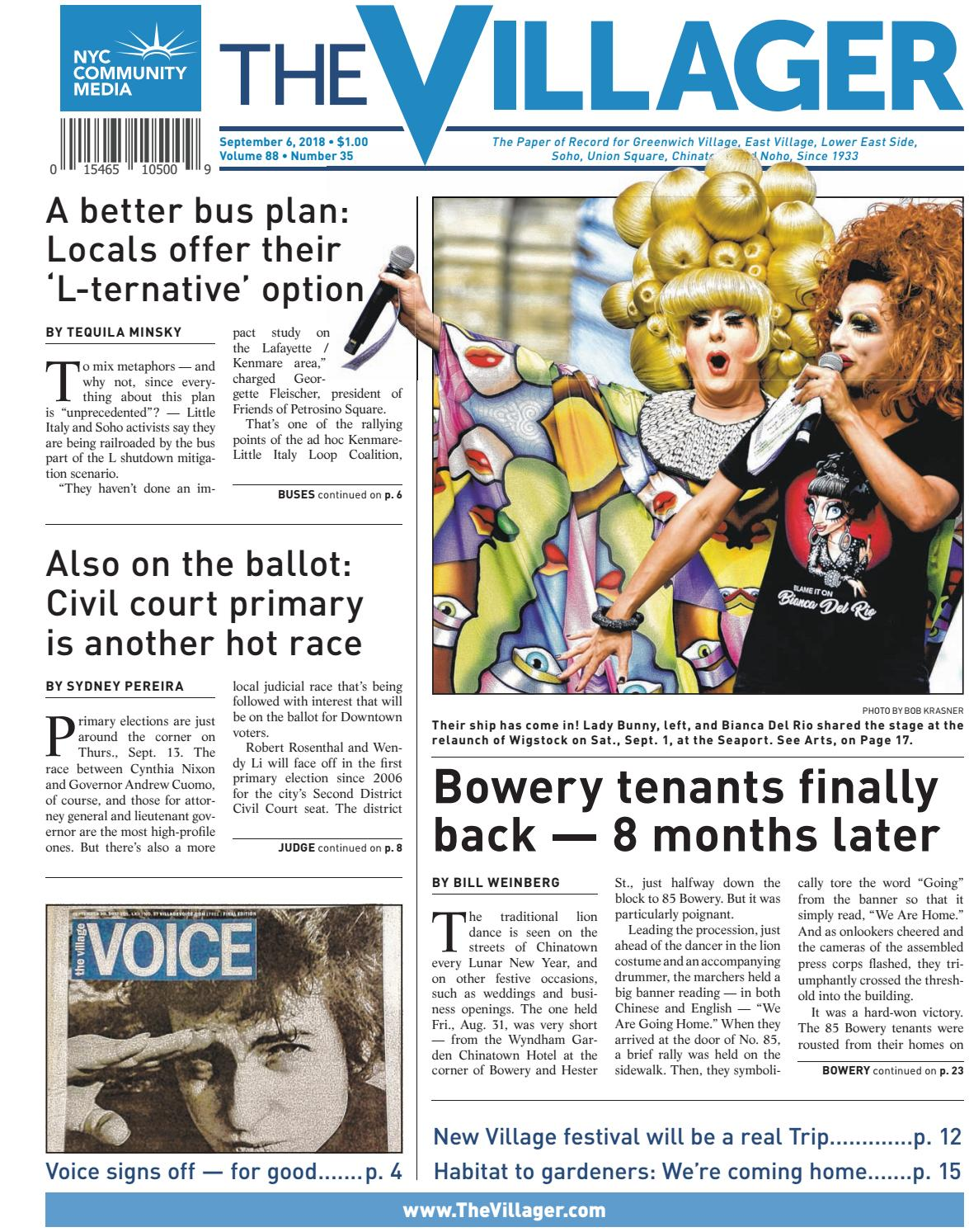 The Villager - September 6, 2018 by Schneps Media - issuu