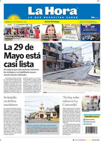 f37e9a4ef Santo Domingo 06 de septiembre de 2018 by Diario La Hora Ecuador - issuu