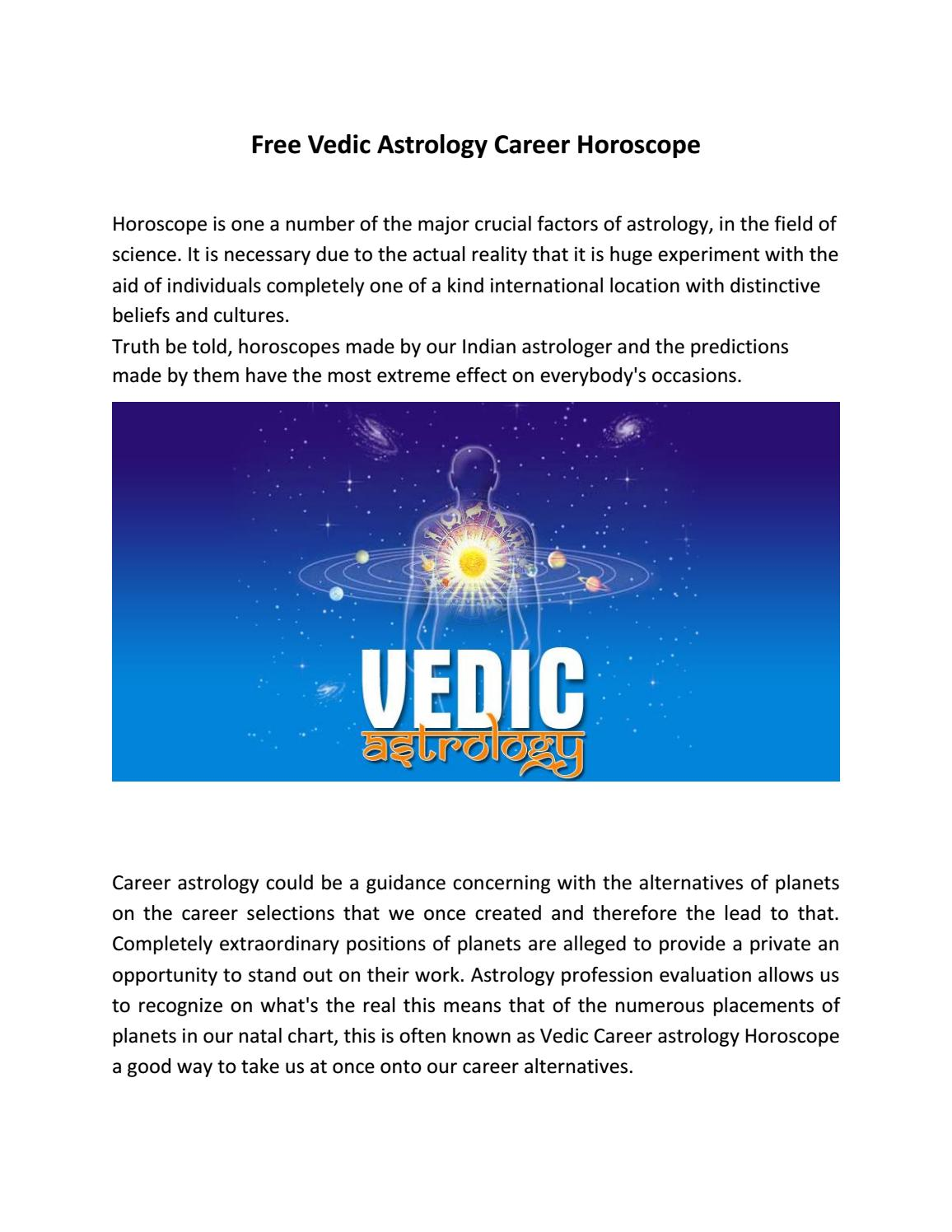 Free Vedic Astrology Career Horoscope by vinaykk - issuu