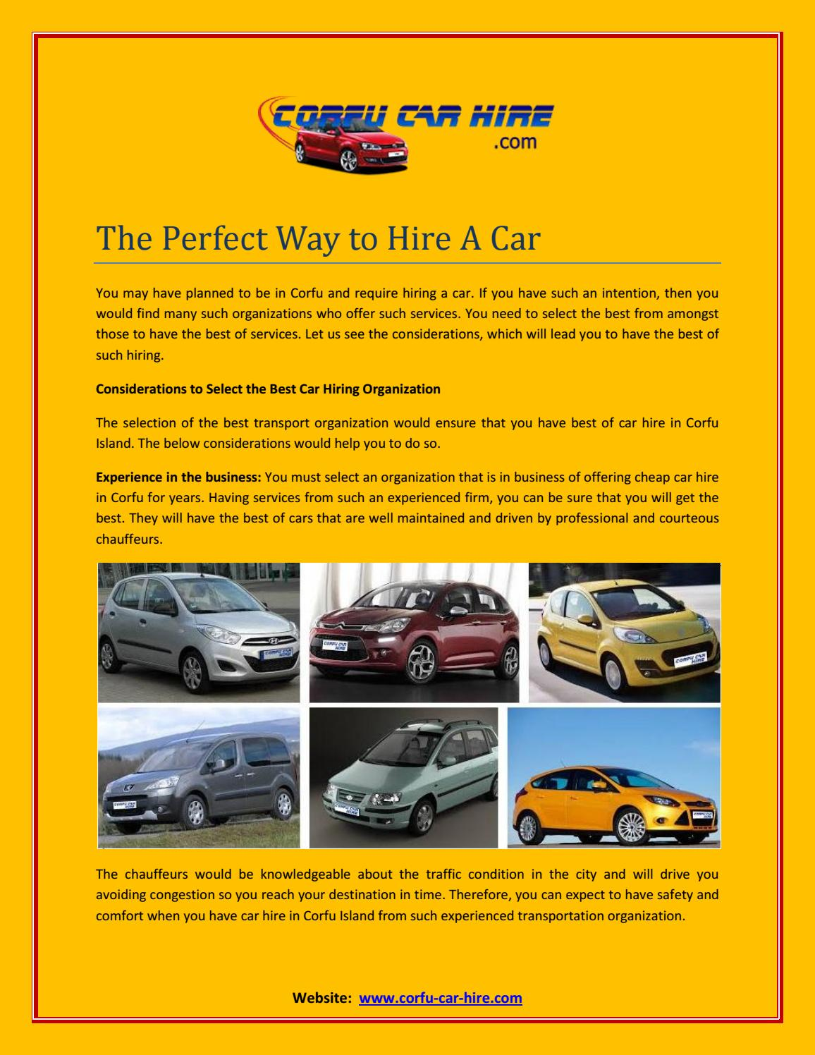 Choose The Right Way To Hire Car By Business And Health Issuu