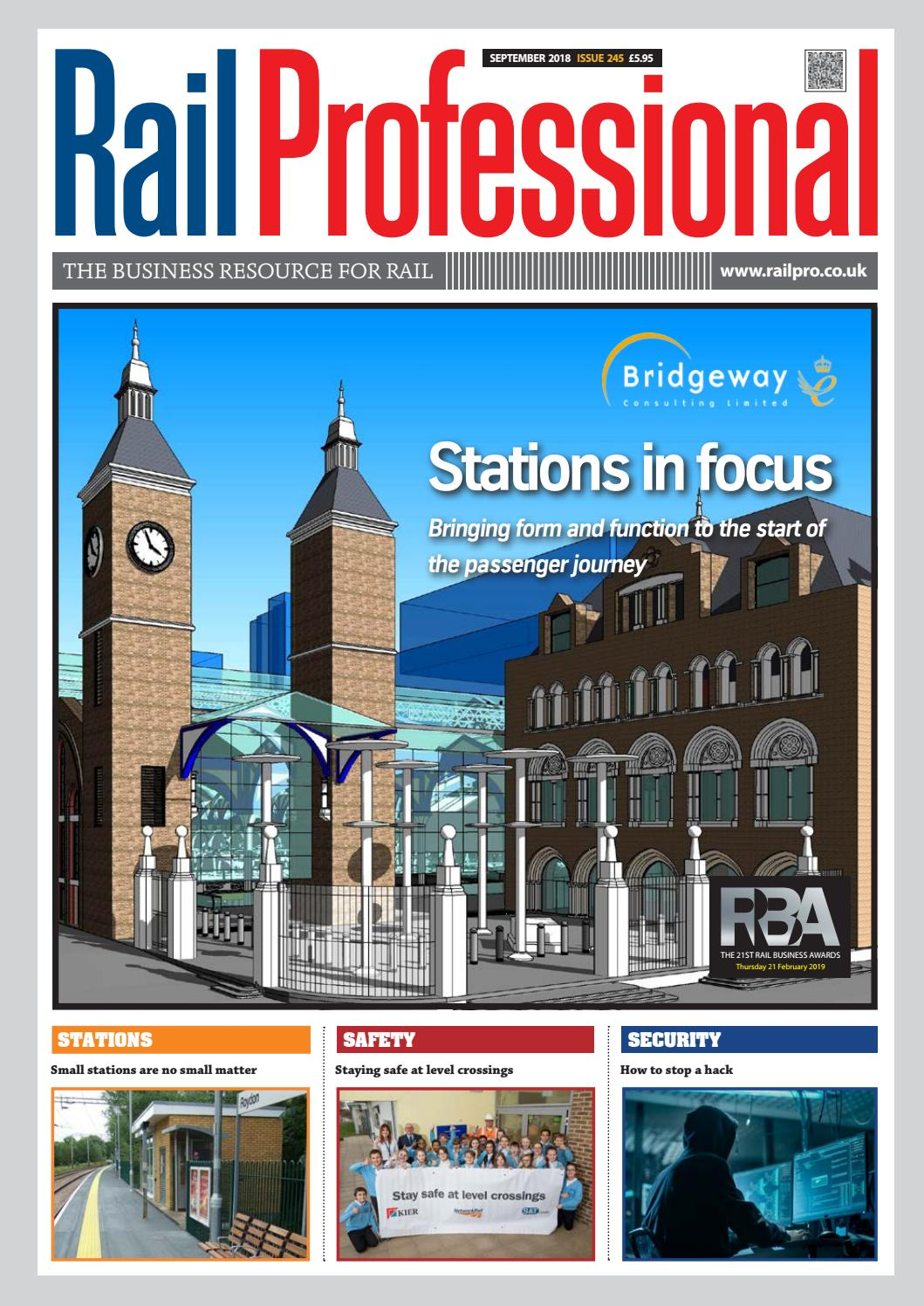 4cb8890dd RAIL PROFESSIONAL SEPTEMBER 2018 by Rail Professional Magazine - issuu