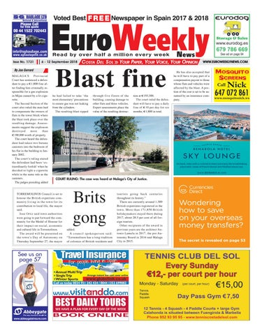 4188b8222f Euro Weekly News - Costa del Sol 6 - 12 September 2018 Issue 1731 by ...