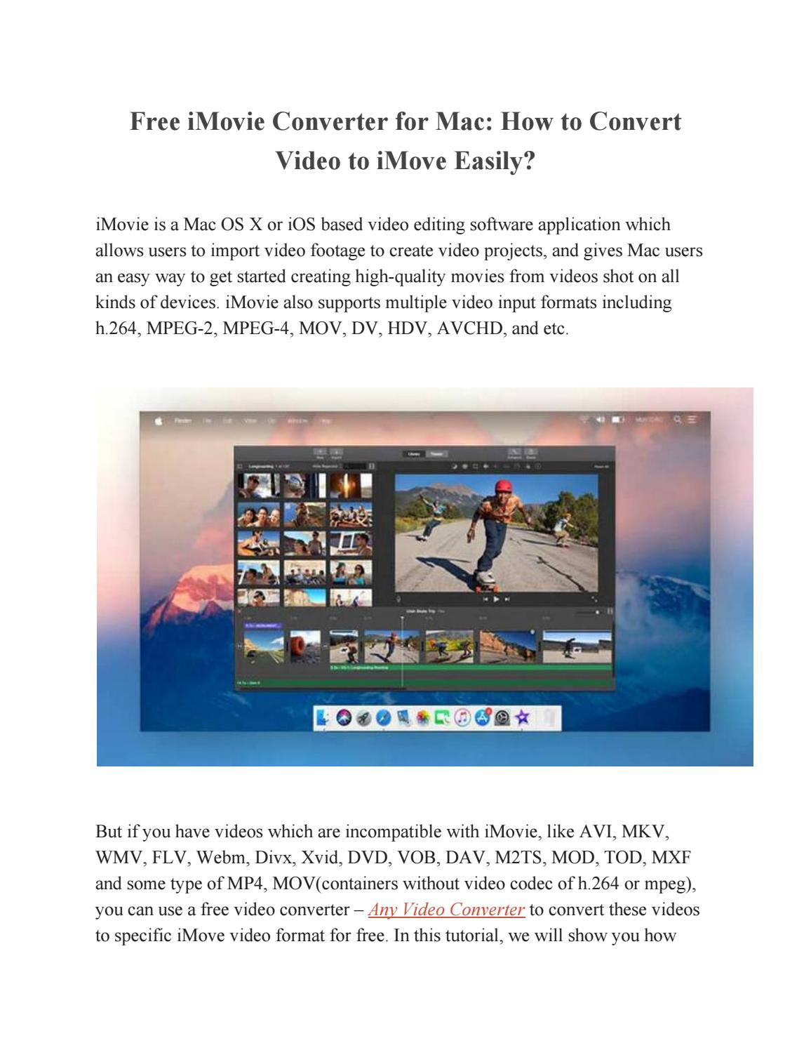How to Convert Video to iMove Easily? by Paris Young - issuu