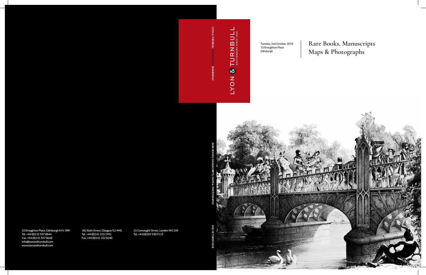 Rare Books, Manuscripts, Maps & Photographs | 02 Oct 2018 by