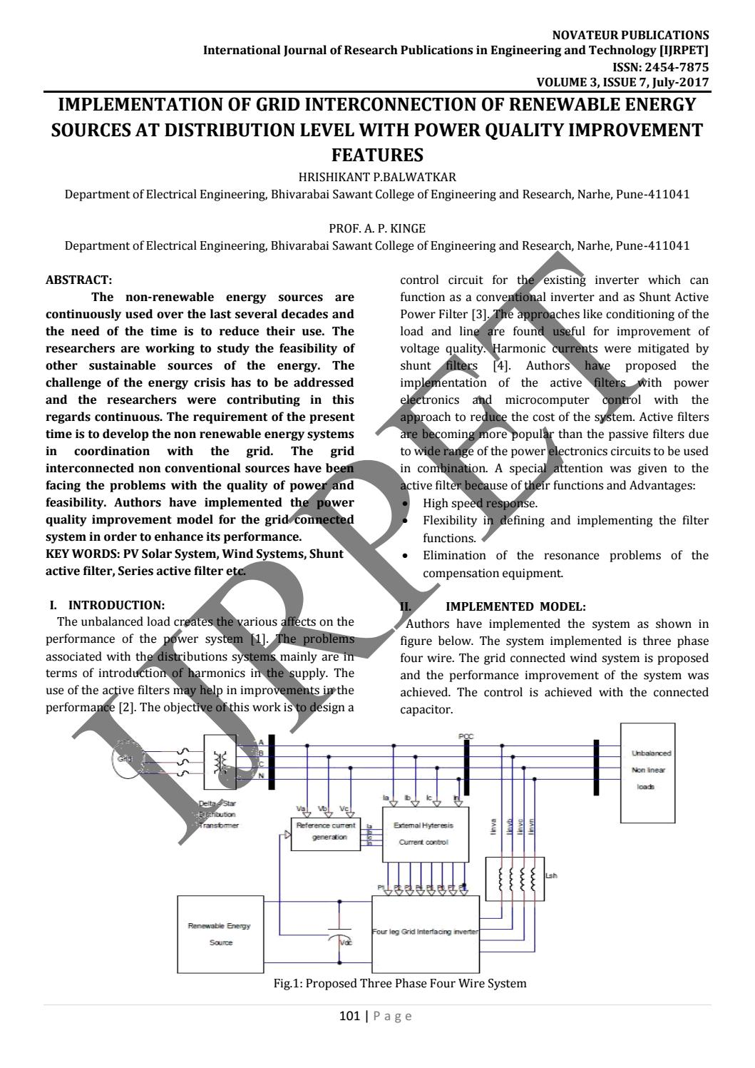 JournalNX- GRID INTERCONNECTION OF RENEWABLE ENERGY SOURCES