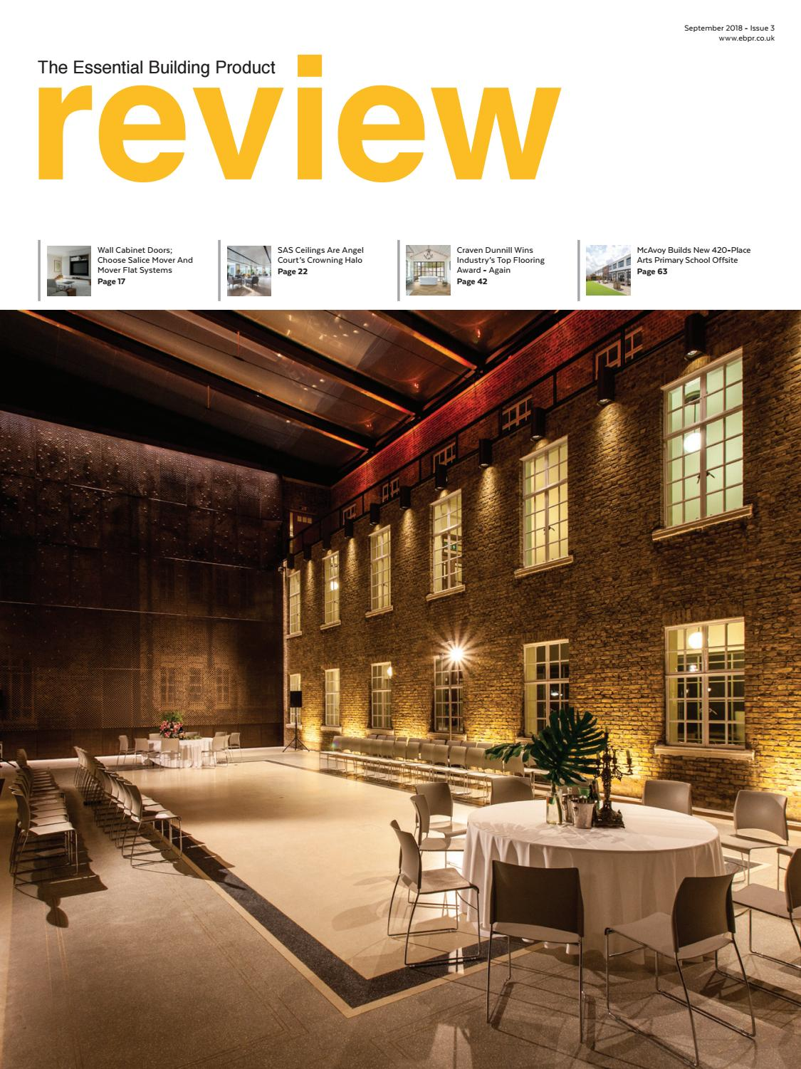 The Essential Building Product Review September 2018 Issue 3 by L2
