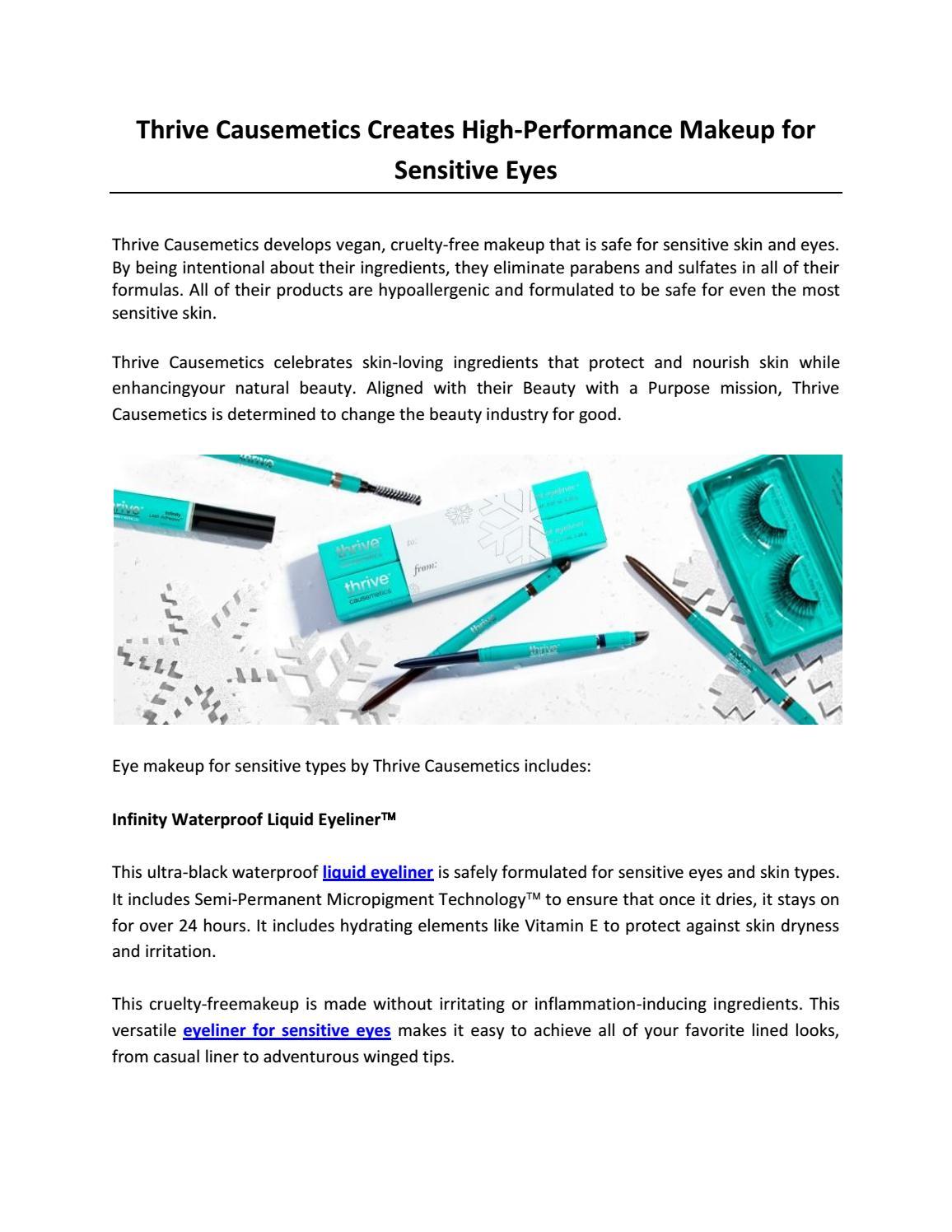 Thrive Causemetics Creates High Performance Makeup For Sensitive