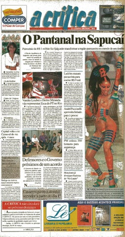 aff0b3221c Jornal A Critica - Edição 1018- 25 02 2001 by JORNAL A CRITICA - issuu