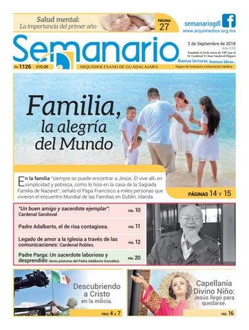 71295ff57c7 Semanario 1126 by Semanario Arquidiocesano de Guadalajara - issuu
