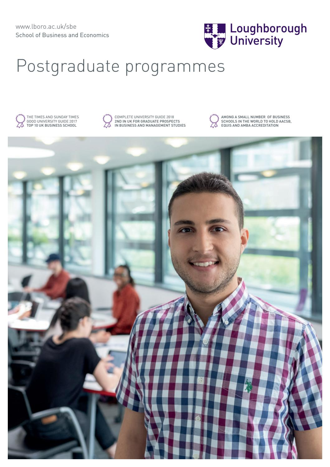 Postgraduate Programmes By Loughborough University Issuu