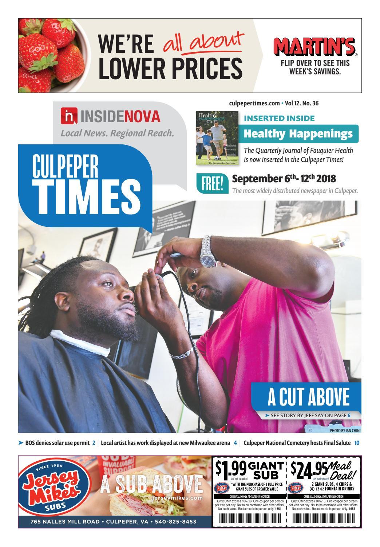 Culpeper Times - September 6-12, 2018 by InsideNoVa - issuu
