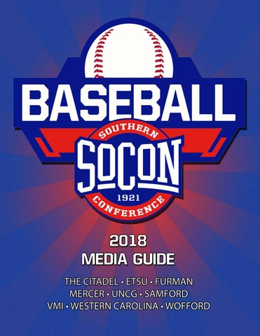 2018 Southern Conference Baseball Media Guide By